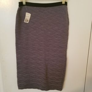 Forever 21 midi grey skirt size large